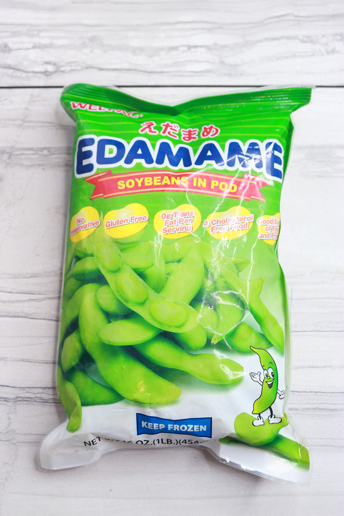 Look at that cute little edamame... It has arms and legs.