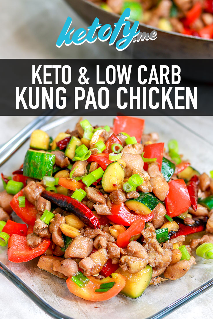 Ketofy.me - Keto & Low Carb Kung Pao Chicken | www.ketofy.me | Keto Recipes | Keto Resources | Eating out on Keto | How to Start Keto Guide