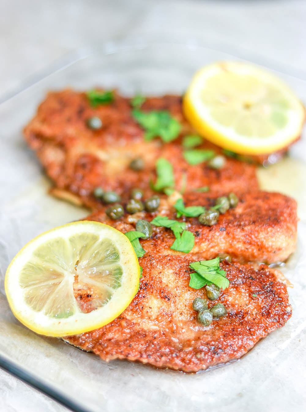 Keto Fy Me Cut Carbs Not Flavor Keto Fried Tilapia With Lemon Garlic Butter Sauce Gluten Free