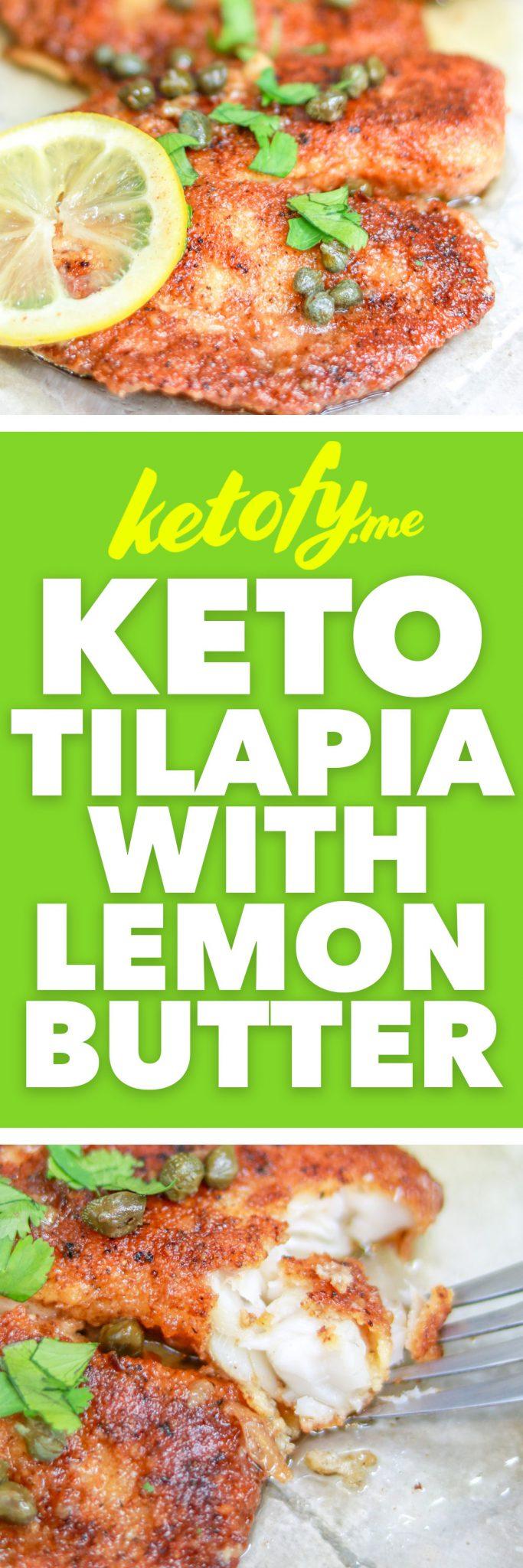 Ketofy.Me | Keto Fried Tilapia Lemon Butter | Gluten-Free | Nut-Free | https://ketofy.me