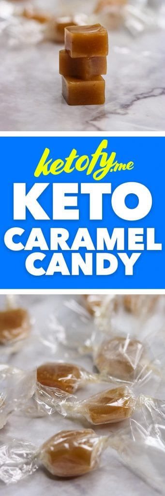Keto Low Carb Caramel Candy Recipe | www.ketofy.me | Choczero Candy Recipe