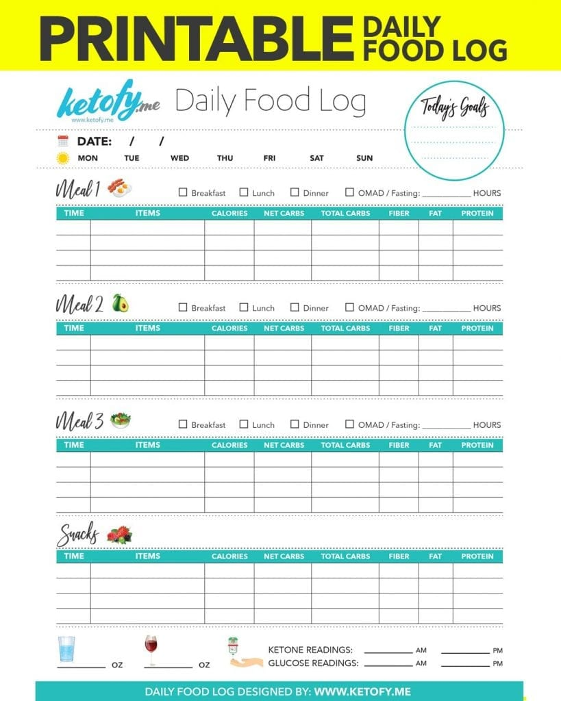 This is a graphic of Bright Free Food Logs