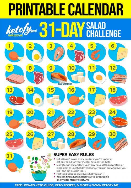 31 Days Keto Salad Challenge | Monthly Salad Challenge